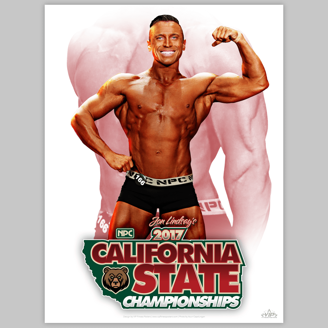 VIP Fitness posters for NPC and IFBB fitness competitors