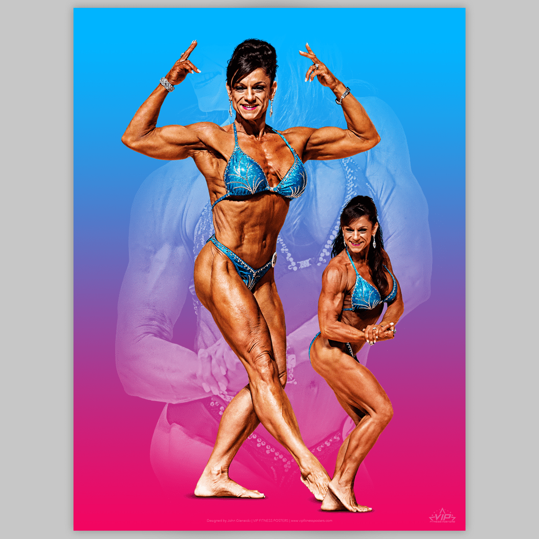 one-of-a-kind fitness poster for the fitness competitor